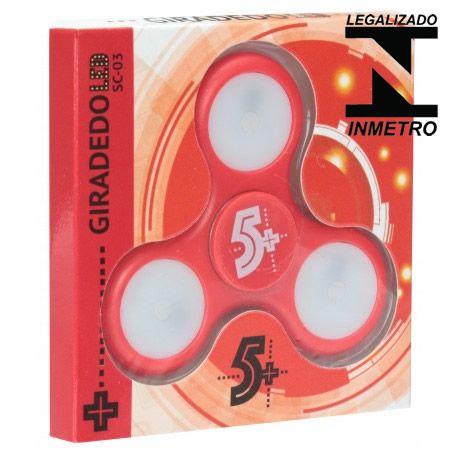 Fidget Hand Spinner Com Leds, Vermelho - Homologado Inmetro