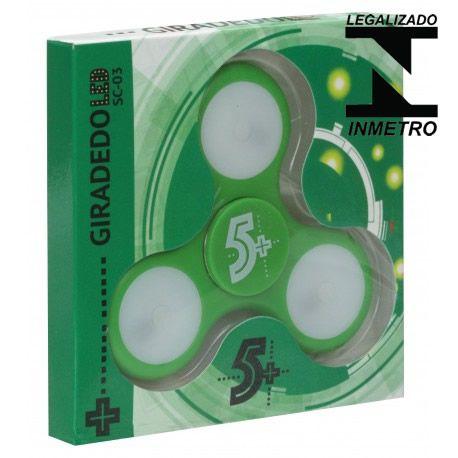 Fidget Hand Spinner Com Leds, Verde - Homologado Inmetro