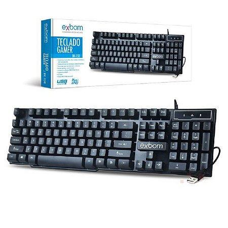 Teclado Gamer Usb Sensação Mecânica e Tecla Alta Infokit BK-150