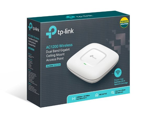 Access Point Wireless De Teto Tp-Link Dual Band Gigabit AC1200 - EAP225