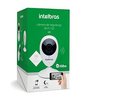 Câmera Ip HD Wi-fi Intelbras Mibo ic3 - Com Visão Noturna