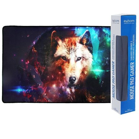 Mouse Pad Gamer Extra Grande 70x35x3mm Exbom MP-7035C (Lobo)
