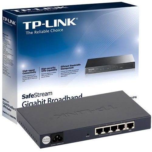 Roteador Vpn Gigabit Tp-Link TL-R600VPN, 1 Wan e 4 Lan