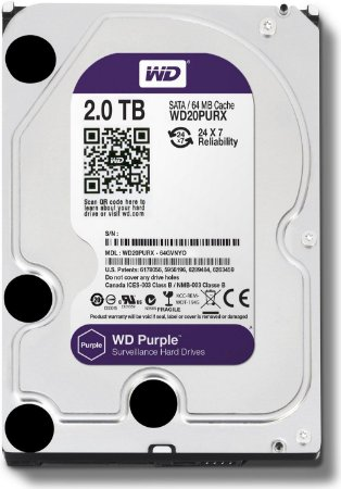 HD 2TB INTERNO 3.5 SATA WESTERN DIGITAL PURPLE - WD20PURX