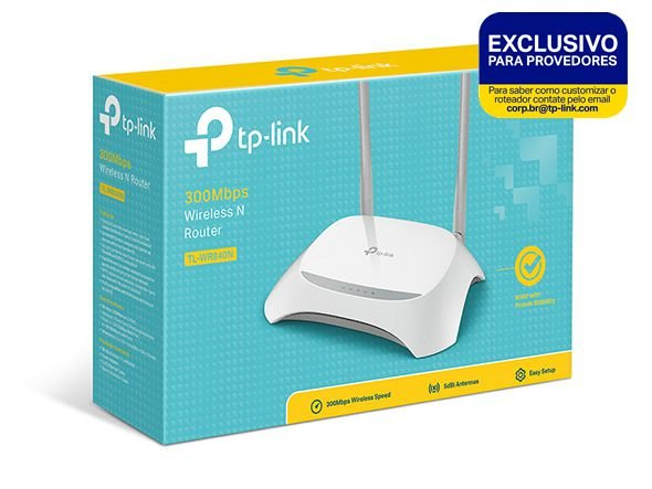 Roteador Wireless Tp-link Tl-wr840N Preset 300mbps 2 Antenas - Exclusivo Para provedor