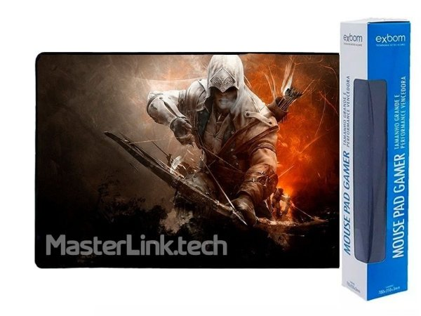 Mouse Pad Gamer Extra Grande Assassins Creed - 70x35x3mm
