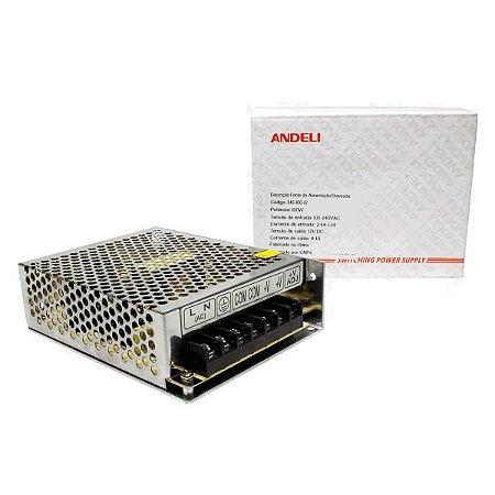Fonte Chaveada 12V 8.4A 100w Bi-volt MS-100-12 Andeli