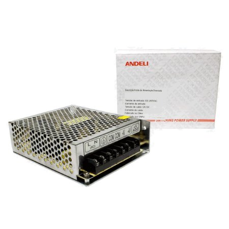 Fonte Chaveada 12V 4.17A 50w Bi-volt MS-50-12 Andeli