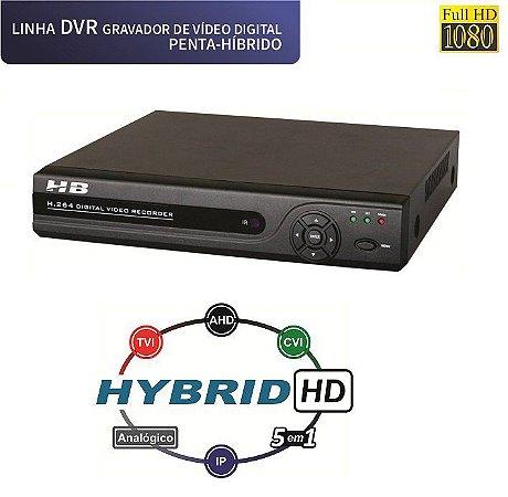 DVR 8 Canais Full HD 1080P COM DETECÇÃO FACIAL 5 em 1 HB6208 - HB TECH