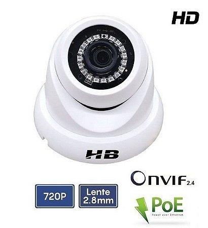 Câmera Dome IP Onvif 2.4 Poe 1.0mp 2.8mm IP66 HB-905 HB Tech