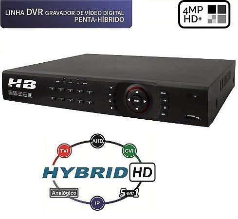 DVR 16 Canais HD 4 Megapixel C/ Detecção Facial 5 em 1 HB6316 - HB TECH