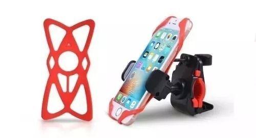 Suporte Celular Gps Moto E Bicicleta Com Rede Silicone MTG-015