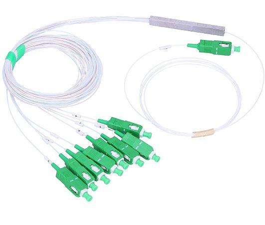 Splitter Óptico 1 x 8 Sc/Apc Balanceado - Conectorizado