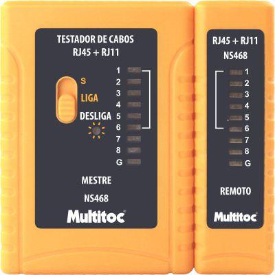 Testador De Rede RJ45 E RJ11 MULTITOC NS-468