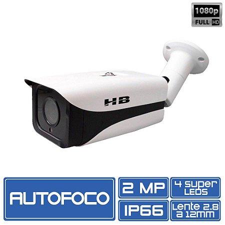 Câmera Bullet 4 em 1 Varifocal 2.8 até 12mm Auto Foco 1/3 2.0Mp 1080P HB-TECH