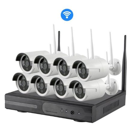 Kit Nvr 8 Câmeras Ip Wireless 1.3mp 960p Dvr Sem Fio