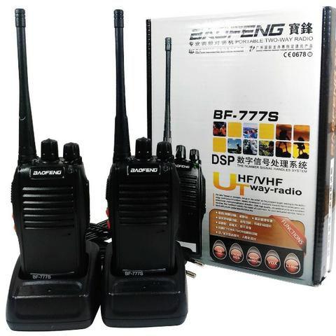 Kit 2 Un. Rádio Ht Comunicador Baofeng  BF-777S 16 Canais