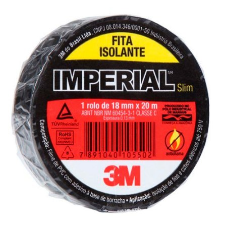 Fita Isolante 3M Imperial  - 18mm X 20m