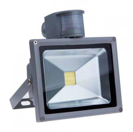 Refletor Led 50w Branco Frio Com Sensor de Movimento e Fotocélula