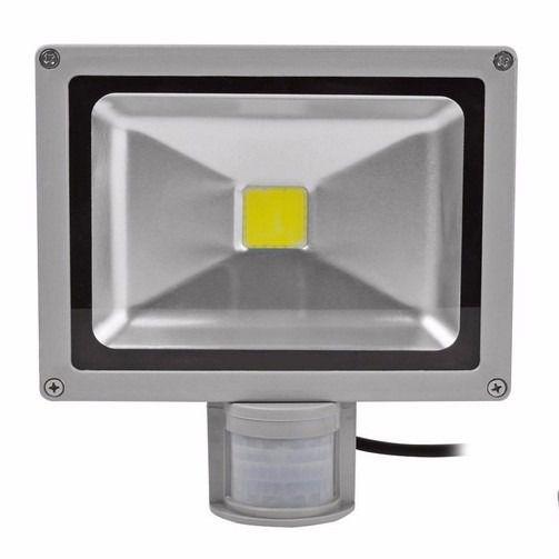 Refletor Led 20w Branco Frio Com Sensor de Movimento e Fotocélula