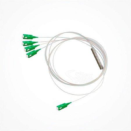 Splitter Óptico 1 x 4 Sc/Apc Balanceado - Conectorizado