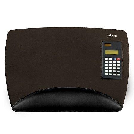 Mouse pad com Calculadora Solar e Apoio para punho 260x386x5mm Exbom MP-O3825SC