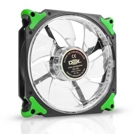COOLER FAN 120MM C/32 LED EXTRA FORTE DEX DX-12H - VERDE