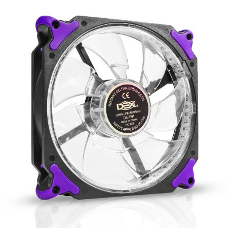 COOLER FAN 120MM C/ 32 LED EXTRA FORTE DEX DX-12H - ROXO