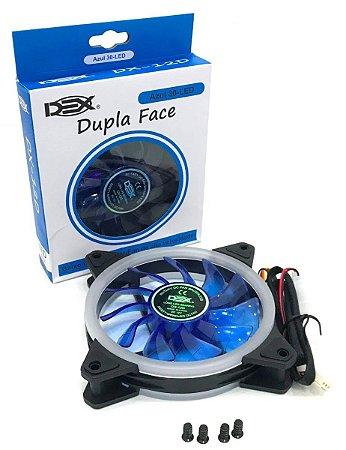 Cooler Fan Dupla Face 120mm C/ 30 leds Azul DEX DX-12D