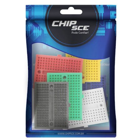 Mini Protoboard 170 Furos 45X34X8,5mm ChipSce - 6 Unidades