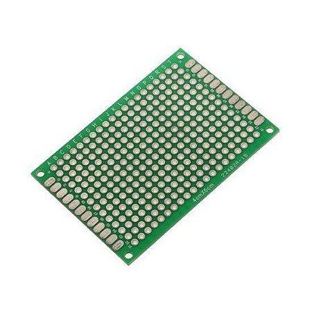 Placa De Circuito Impresso Ilhada 4x6 1,6mm - Dupla Face