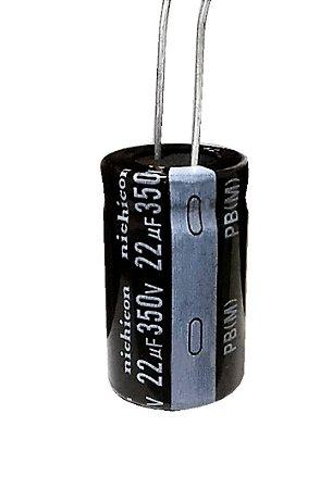Capacitor Eletrolítico 22uf 350V 105 Graus - 22x350-105