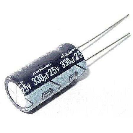 Capacitor Eletrolítico 330uf 25V 105 Graus - 330x25-105