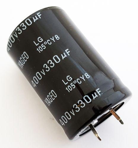 Capacitor Eletrolítico 330uf 400V 105 Graus - 330x400-105