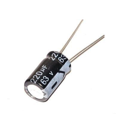 Capacitor Eletrolítico 220uf 63V 105 Graus - 220x63-105