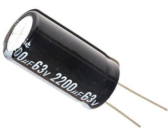 Capacitor Eletrolítico 2200uf 63V 105 Graus - 2200x63-105