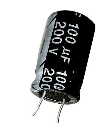 Capacitor Eletrolítico 100uf 200V 105 Graus - 100x200-105