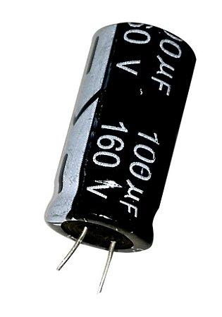 Capacitor Eletrolítico 100uf 160V 105 Graus - 100x160-105