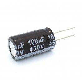 Capacitor Eletrolítico 100uf 450V 105 Graus - 100x450-105
