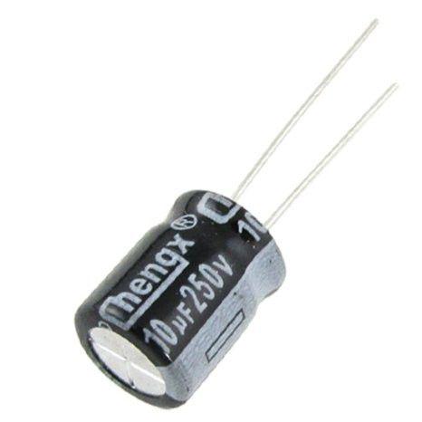 Capacitor Eletrolítico 10uf 250V Bipolar 105 Graus - 10x250-105