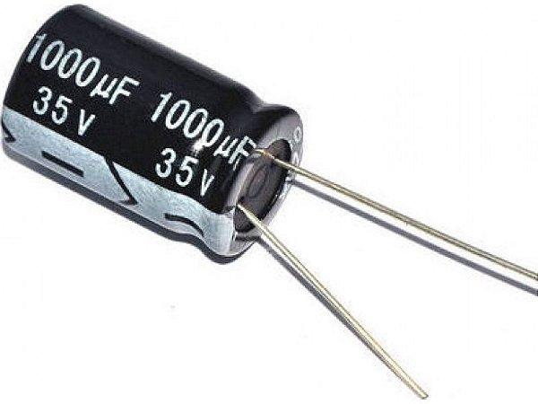 Capacitor Eletrolítico 1000uf 35V 105 Graus - 1000x35-105