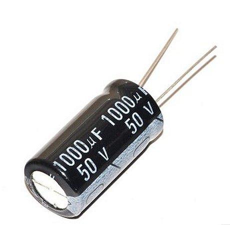 Capacitor Eletrolítico 1000uf 50V 105 Graus - 1000x50-105