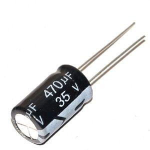 Capacitor Eletrolítico 470uf 35V 105 Graus - 470x35-105