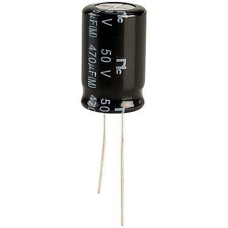 Capacitor Eletrolítico 470uf 50V 105 Graus - 470x50-105