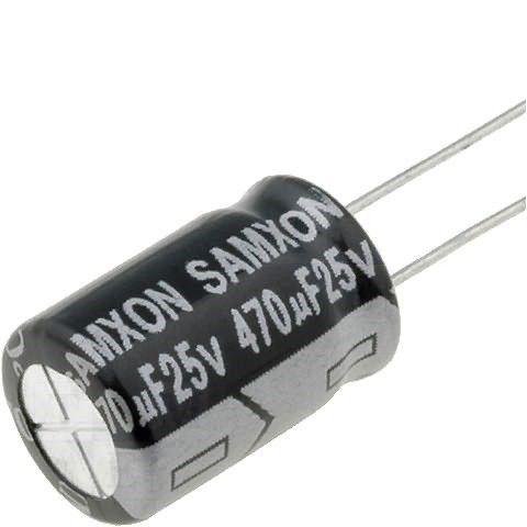 Capacitor Eletrolítico 470uf 25V 105 Graus - 470x25-105