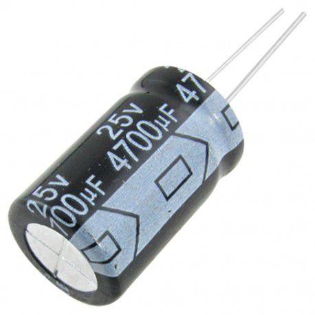 Capacitor Eletrolítico 4700uf 25V 105 Graus - 4700x25-105