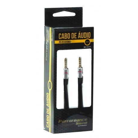 Cabo De Áudio P2 P2 Blindado Estéreo 10 Metros - Profissional