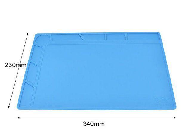 Manta Magnética Antiestática Silicone Azul Yaxun S-120   230x340mm