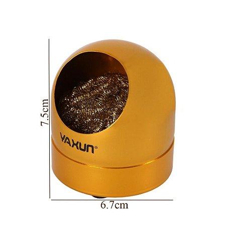 Suporte + Esponja Metálica Limpeza Ferro Solda | Yaxun Yx-b3