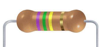 Resistor CF - 750K 5% 1/4W Axial